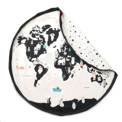 Play & Go - Opbergzak - Speelmat Worldmap/Stars